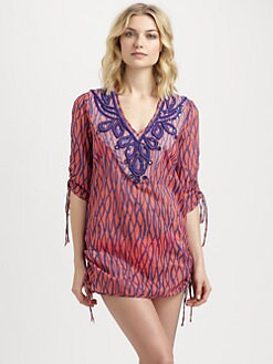 Milly - Cotton Printed/Beaded Limon Tunic