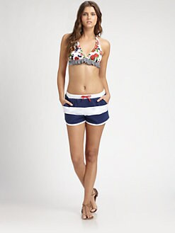 Pret-A-Surf - Cotton Striped Drawstring Shorts