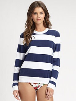 Pret-A-Surf - Striped Back-Zip Sweatshirt