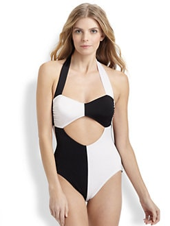 Norma Kamali - One-Piece Harlequin Cutout Swimsuit