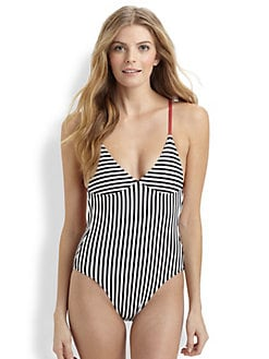 Norma Kamali - One-Piece Striped Swimsuit