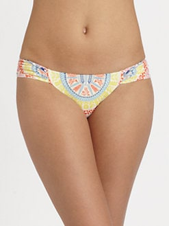 Mara Hoffman - Medicine Wheel Ruched-Side Bikini Bottom