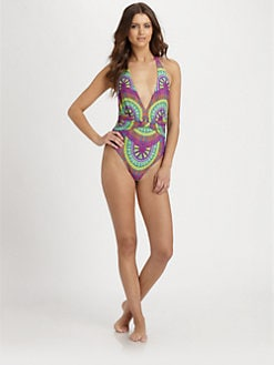 Mara Hoffman - One-Piece Medicine Wheel Swimsuit