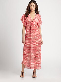 JOSA Tulum - Printed Long Caftan