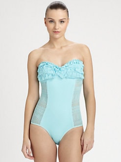 Juicy Couture - Ruffled Lace Maillot