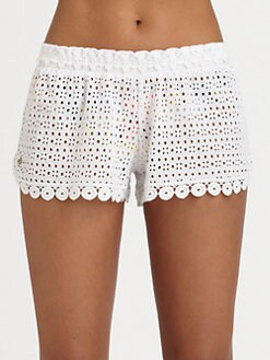 Onda De Mar Swim - Eyelet Beach Shorts