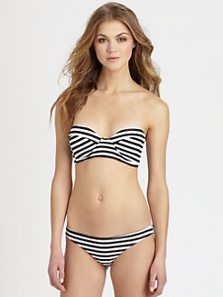 MIKOH SWIMWEAR - Bordeaux Structured Bandeau Bikini Top
