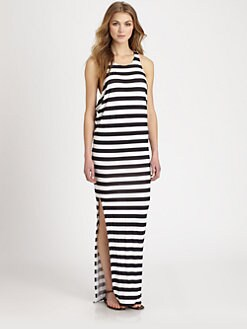 MIKOH SWIMWEAR - Jersey Draped Maxi Dress