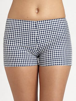 Pret-A-Surf - Plaid Back-Zipper Boyshort