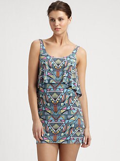 Mara Hoffman - Printed Ruffle-Top Dress