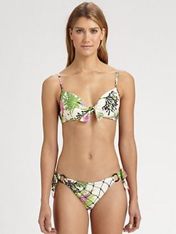 Nanette Lepore - Waikiki Reef Push-Up Bikini Top