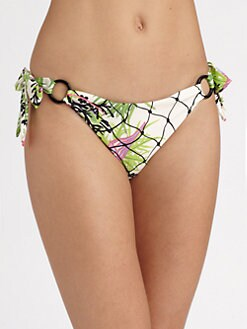 Nanette Lepore - Waikiki Reef Push-Up Bikini Bottom