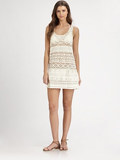 Nanette Lepore - Cotton Eyelet Tank Dress