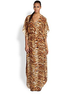 Cia.Maritima Swim - Animal-Print Long Caftan