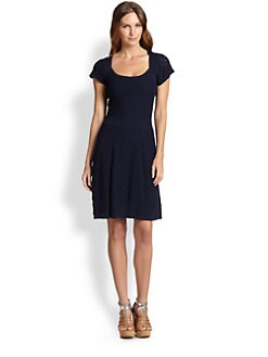 Trina Turk - Cotton Knit Flared Dress