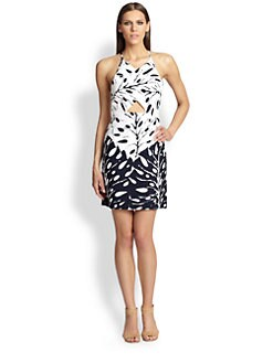 Trina Turk - Printed Cut-Out Dress