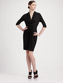Shoshanna - Matte Jersey V-Neck Dress