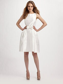Lotusgrace - Taffeta Belted Party Dress