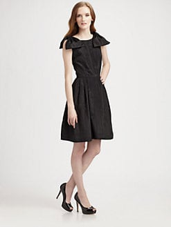 Lotusgrace - Moire Faille Double Bow Dress