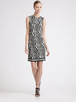 Ali Ro - Asymmetric Border Dress