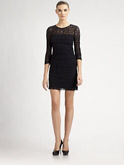 Laundry by Shelli Segal - Tiered Lace Dress