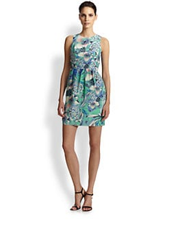 Shoshanna - Louise Silk Floral-Print Dress