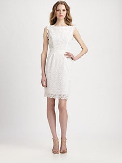 Shoshanna - Nyla Cotton Lace Sheath Dress