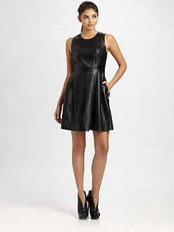 Shoshanna - Belle Leather Dress