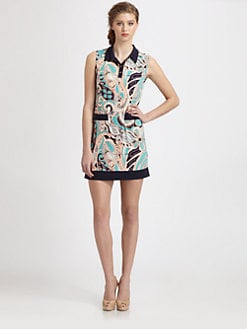 Ali Ro - Printed Henley Dress
