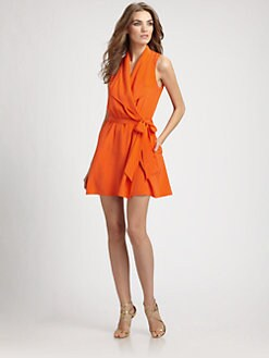 Ali Ro - Faux Wrap Silk Dress