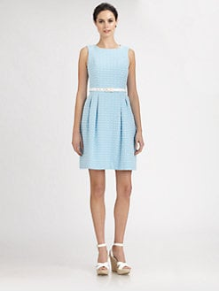 Trina Turk - Belted Jacquard Dress
