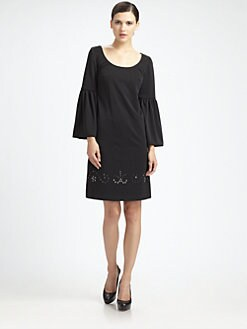 Lotusgrace - Jersey Bell-Sleeve Dress