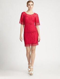 Laundry by Shelli Segal - Bell-Sleeve Lace Dress