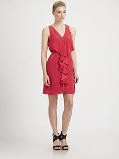 Laundry by Shelli Segal - Crepe de Chine Cascade Dress