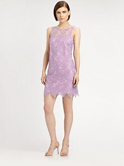 Ali Ro - Organza Scalloped Hem Dress