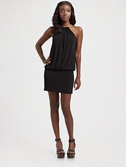 Laundry by Shelli Segal - Matte Jersey Blouson Mini Dress