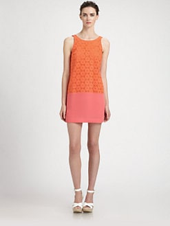 Ali Ro - Colorblock Eyelet Dress