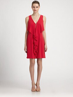 Laundry by Shelli Segal - Ruffled Jersey Dress