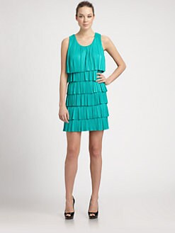 Laundry by Shelli Segal - Pleated Tiered Jersey Dress