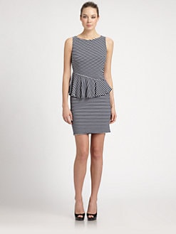 Laundry by Shelli Segal - Striped Peplum Dress