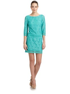 Laundry by Shelli Segal - Drop-Waist Lace Dress