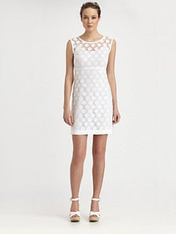 Laundry by Shelli Segal - Dot Lace Dress