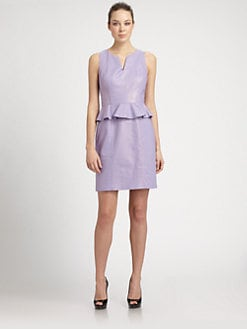 Laundry by Shelli Segal - Metallic Peplum Dress