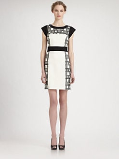 Laundry by Shelli Segal - Embroidered Ponte Dress