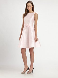 Lotusgrace - Taffeta Bow Dress