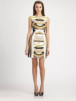 4.collective - Crepe Wave Print Dress
