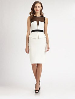 LRK - Dita Illusion Peplum Dress