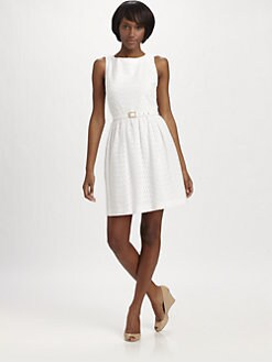 Trina Turk - Belted Eyelet Dress