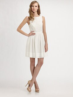 Shoshanna - Embroidered Tillie Dress