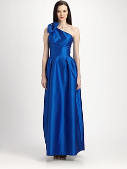 Lotusgrace - Gazar Bow-Shoulder Gown